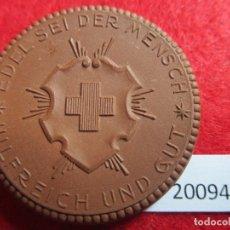 Medallas históricas: MEDALLA DE CERAMICA DE MEISSEN, CRUZ ROJA 1926 , 1ª GM, PORCELANA. Lote 176900422