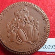Medallas históricas: MEDALLA DE CERAMICA DE MEISSEN, CRUZ ROJA 1921 , AYUDA POR HAMBRE, PORCELANA. Lote 176900948