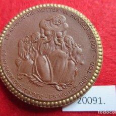 Medallas históricas: MEDALLA DE CERAMICA DE MEISSEN, CRUZ ROJA 1921 , AYUDA POR HAMBRE, PORCELANA. Lote 176901019