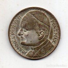 Medallas históricas: MEDALLA DE JUAN PABLO II. PONT. MAX. VIAJE DEL PAPA A ESPAÑA.. Lote 177259729