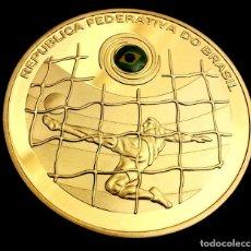 Medallas históricas: MONEDA ORO CONMEMORATIVA FEDERACIÓN FÚTBOL BRASIL. Lote 177269849