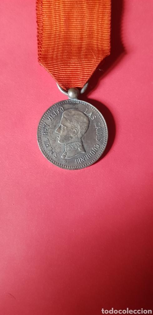 RARA MEDALLA DEL REY ALFONSO XIII VISITA DE SU MAJESTAD EL REY A LAS CAVAS CODORNIU (Numismática - Medallería - Histórica)