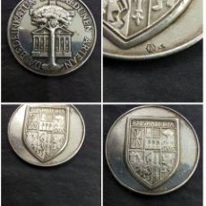 Medallas históricas: ANTIGUA MEDALLA VASCA ESCUDO EUSKALERRIA PAIS VASCO ARBOL GERNIKA LEYENDA PLATA PUNZONADA. Lote 178100997