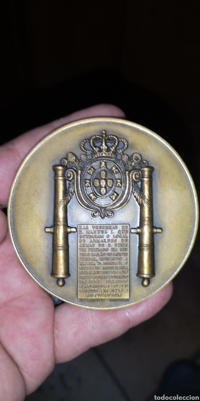 Medallas históricas: Medalla conmemorativa de la reina doña María segunda y Fernando segundo príncipe consorte PortugaL - Foto 2 - 178640461