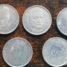 Medallas históricas: LOTE 5 MONEDAS(MEDALLAS) CONMEMORATIVAS DE ALUMINIO. LEER DESCRIPCIÓN.. Lote 178946778