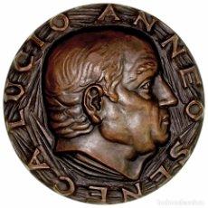 Medallas históricas: ESPAÑA. MEDALLA F.N.M.T. DEDICADA A SÉNECA. 1.967. BRONCE. Lote 180072348