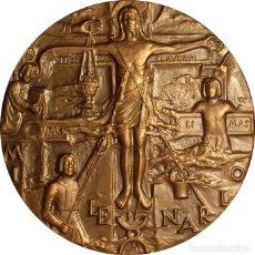 Medallas históricas: ESPAÑA. MEDALLA F.N.M.T. MILENARIO DEL CÓDEX BEATUS GERUNDENSIS. 1.975. BRONCE. Lote 180078128