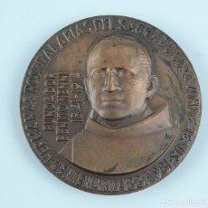 Medallas históricas: MEDALLA CONMEMORATIVA CENTENARIO HH. HOSPITALARIAS DEL SGDO. CORAZÓN DE JESUS, FUNDADOR BENITO MENNI. Lote 180097718
