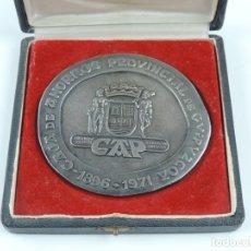 Medallas históricas: MEDALLA DE LA CAJA DE AHORROS PROVINCIAL DE GUIPÚZCOA, TRASERA ALUSIÓN A LA MONEDA IBERICA BASKONA, . Lote 180098250