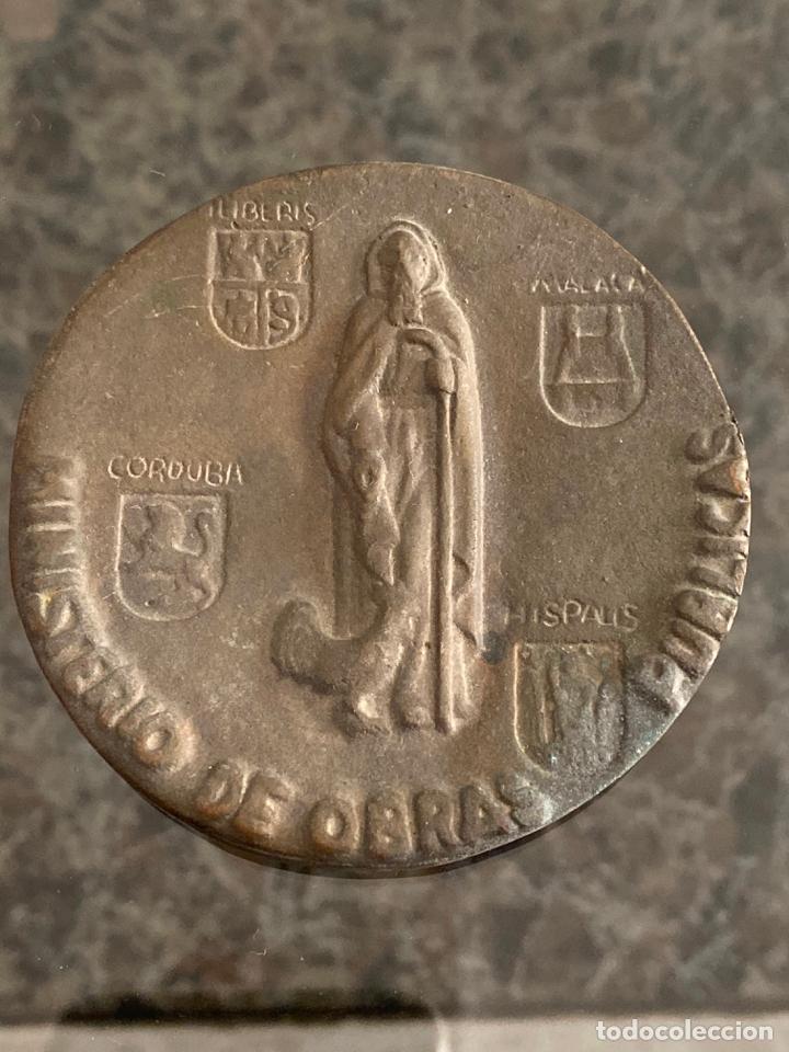 Medallas históricas: MEDALLA DE BRONCE Confederación Hidrográfica del Guadalquivir Junio 1969 - Foto 2 - 180465438