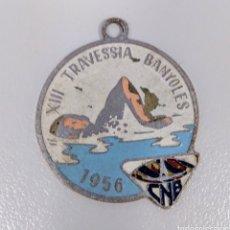 Medallas históricas: MEDALLA ANTIGUA TRAVESÍA LAGO BAÑOLAS GIRONA AÑO 1956 - AE61. Lote 180957520