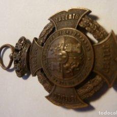Medallas históricas: MEDALLA CARLISTA .CARLOS VII 1874 COBRE. Lote 181124822