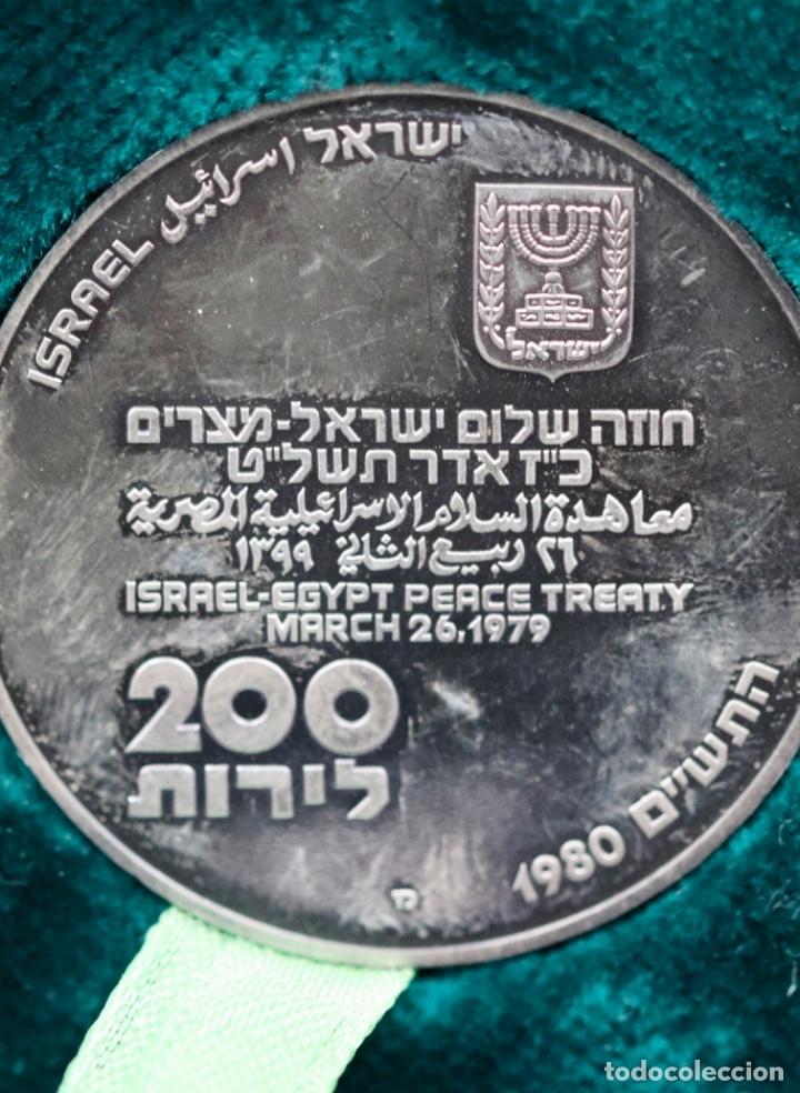 PAZ ENTRE EGIPTO E ISRAEL (Numismática - Medallería - Histórica)