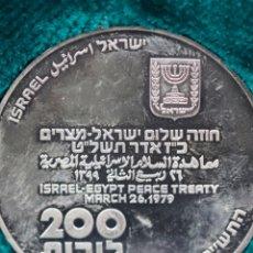 Medallas históricas: PAZ ENTRE EGIPTO E ISRAEL. Lote 181490807
