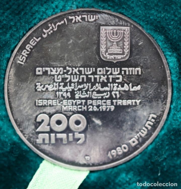 Medallas históricas: PAZ ENTRE EGIPTO E ISRAEL - Foto 5 - 181490807