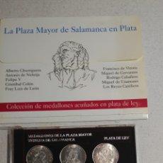 Medallas históricas: MEDALLONES DE LA PLAZA MAYOR DE SALAMANCA,PERSONAJES. Lote 182110840