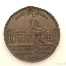 Medallas históricas: MEDALLA BRONCE INAUGURACIÓN BIBLIOTECA BALAGUER VILANOVA I LA GELTRÚ 1884. Lote 182758753