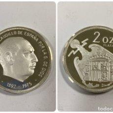Medallas históricas: MEDALLA FRANCISCO FRANCO CAUDILLO DE ESPAÑA. 1892-1975. 2 ONZAS DE PLATA PURA.. Lote 182828213