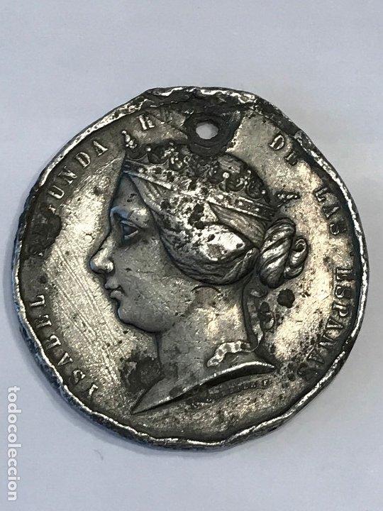 MEDALLA ISABEL II GUERRA CONTRA MARRUECOS 1859. (Numismática - Medallería - Histórica)