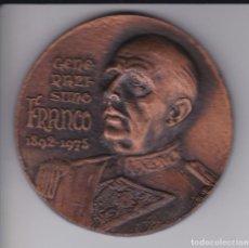 Medallas históricas: GRAN MEDALLA FRANCISCO FRANCO GENERALISIMO DE LOS EJERCITOS - DIAMETRO 7,6CM. Lote 183405297