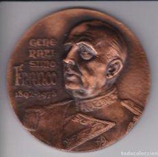 Medallas históricas: GRAN MEDALLA FRANCISCO FRANCO GENERALISIMO DE LOS EJERCITOS - DIAMETRO 7,9CM. Lote 183405368