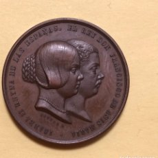 Medaglie storiche: RARA MEDALLA ISABEL II REINA DE LAS ESPAÑAS. Lote 183769808