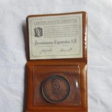 Medallas históricas: CARTERA CON MEDALLA CONMEMORATIVA DEL IV CENTERARIO DE LA BATALLA DE LEPANTO. ACUÑACIONES ESPAÑOLAS. Lote 184092846