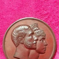 Medallas históricas: MEDALLA BODA DE ALFONSO XII Y MARIA CRISTINA 1879. Lote 184489566