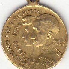 Medallas históricas: MEDALLA: 1906 ALFONSO XIII Y VICTORIA - RECUERDO DE LAS BODAS REALES. Lote 184606160