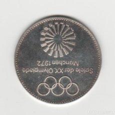 Medallas históricas: MEDALLA DE LOS JUEGOS OLIMPICOS-MUNICH 1972-PLATA 925. Lote 184662326