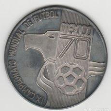 Medallas históricas: MEDALLA DEL CAMPEONATO MUNDIAL DE FUTBOL- MEXICO 1970-PLATA 925. Lote 184663112
