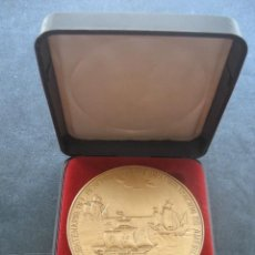 Medallas históricas: MEDALLA BRONCE. V CENTENARIO DESCUBRIMIENTO Y EVANGELIZACION DE AMERICA. ZARAGOZA OCTUBRE 1984. Lote 184805347