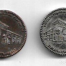 Medallas históricas: PAREJA DE MEDALLAS PLATEADA Y COBRE DEL PALACIO DE PIMENTEL DE VALLADOLID DIAMETRO 3 CM. Lote 186434748