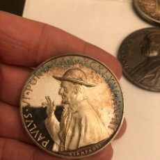 Medallas históricas: BONITA MEDALLA DEL PAPA PABLO VI PLATA. Lote 187456550