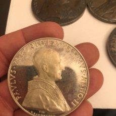 Medallas históricas: PRECIOSA MEDALLA DEL PAPA PABLO VI PLATA. Lote 187457278