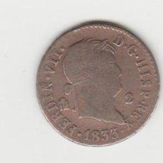 Medallas históricas: FERNANDO VII- 2 MARAVEDIS-1833-SEGOVIA. Lote 188143750