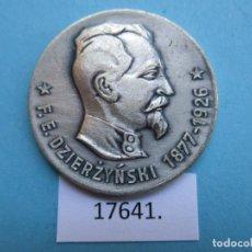 Medallas históricas: MEDALLA, FICHA, FÉLIX DZERZHINSKI, COMUNISMO, CHECA, STASI, DDR, RDA, TOKEN, JETÓN. Lote 188405243