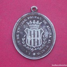 Medallas históricas: MEDALLA COMISIÓN DE INSTRUCCIÓN PRIMARIA DE ALCIRA. VALENCIA AÑO 1852. MUY RARA.. Lote 188663825