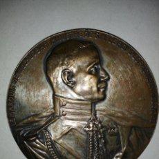 Medallas históricas: GRAN MEDALLA MARQUES DE VILLALOBAR MINISTRO DEL REY DE ESPAÑA EN BELGICA 1916 PAUL DUBOIS. Lote 189654915