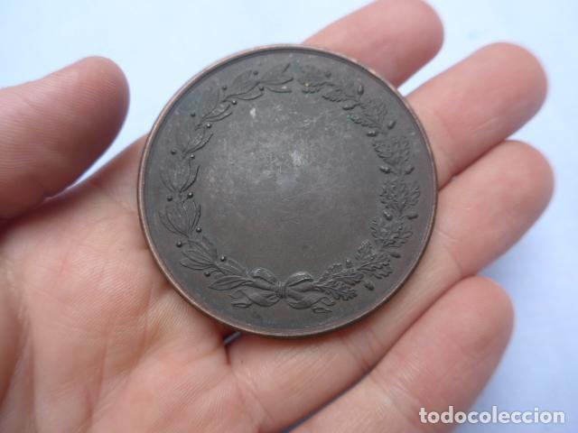 Medallas históricas: * Antigua medalla de mano de españa en paris, 1878, francia. original. ZX - Foto 3 - 191375447