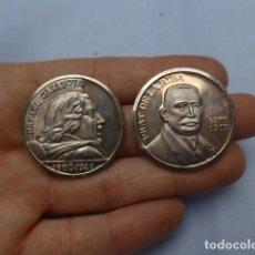 Medallas históricas: * ANTIGUAS 2 MEDALLA DE MANO DE PLATA DE FORJADOR DE LA GENERALITAT DE CATALUNYA, ORIGINAL. ZX. Lote 191378171