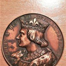 Medallas históricas: MEDALLA DEL REY DE FRANCIA Y NAVARRA,LUIS X,SIGLO XIX,GRABADOR CAQUE,REINADO EDAD MEDIA,RARA. Lote 191912276
