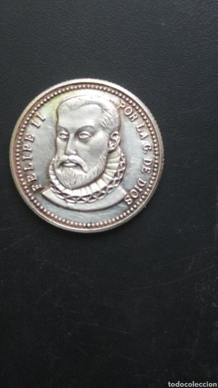 MONEDA MEDALLA FELIPE II. (Numismática - Medallería - Histórica)