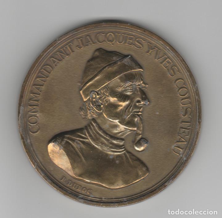 MEDALLA FRANCESA-COMMANDANT JACQUES YVES COUSTEAU (Numismática - Medallería - Histórica)