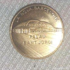 Medallas históricas: MEDALLA CONMEMORATIVA DE LA EXFIME 90 EN BARCELONA , REVERSO PALAU DE SAN JORDI. Lote 135306854