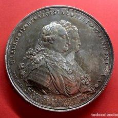 Medallas históricas: ¡¡ ESCASA !! MEDALLA EN PLATA PROCLAMACION DE CARLOS IV. 1789. MONUMENTO AL CABALLITO. MEXICO. Lote 193196292