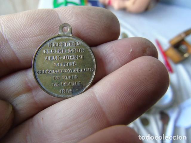 MEDALLA 1856 BAUTISMO NAPOLEON EUGENE LOUIS JEAN JOSEPH BAPTISÉ EN L EGLISE NOTRE DAME PARIS 1856 (Numismática - Medallería - Histórica)