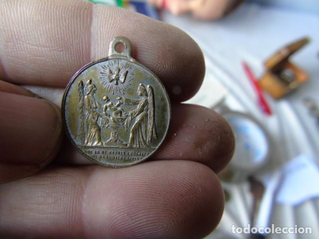 Medallas históricas: medalla 1856 bautismo napoleon eugene louis jean joseph baptisé en l eglise notre dame paris 1856 - Foto 2 - 193341775