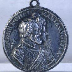 Medallas históricas: MEDALLA EN PLATA HENR.IIII R.CHRIST MARIA AUGUSTA - 1603 - 62 MM - 118 GR - MUY RARA. Lote 193961120