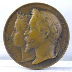 Medallas históricas: MEDALLA EN BRONCE EUGENIE IMPERATRICE. NAPOLEON III EMPEREUR 1860 - 70 MM. Lote 194148560